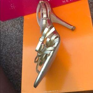 Kate Spade Elaine Gold Metallic Nappa SZ 5.5